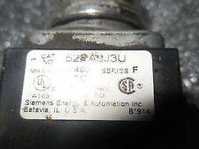 (V33-4) 1 USED SIEMENS 52PA3J3U MUSHROOM HEAD PUSH BUTTON SWITCH