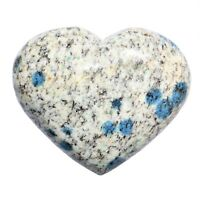 Himalayan K2 Granite / Azurite Crystal Puffy Heart / Palm Stone Healing Energy!