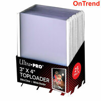 Ultra Pro WHITE TOPLOADER x 25 Rigid Card Protector Pokemon Regular TOP LOADERS