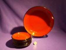 6 Piece Set Lacquerware Type Bowls 1 LARGE & 5 RICE BOWLS  Red / Black  Japan