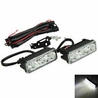 2x Weiß LED High Power DRL Tagfahrleuchte Nebel Licht Fog Lampe Wasserdicht 12V