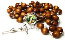 3rd class relic rosary Saint Therese Child Jesus Lisieux brown color HIV AIDS