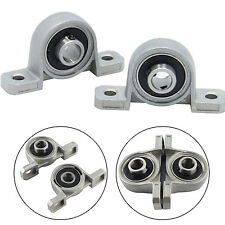 2PCS 8mm Bore Inner Ball Mounted Pillow Block Insert Bearing KP08 Gray New NS