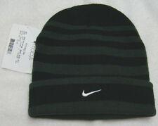 Nike Black and Green Stripe Acrylic Toboggan - Youth Size