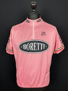 Decca Boretti Men's Size 3XL Cycling Jersey Pink Short Sleeve Bike Shirt Trikot