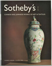 SOTHEBY'S / CHINESE AND JAPANESE WORKS OF ART & TEXTILES  / LONDON 23 APRIL 2002