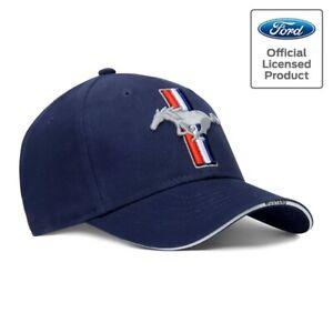 Ford Mustang Cap Pony, lizenziert Basecap 2021 Pferd Kappe, Blitzversand blau