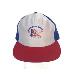033b904685b Vintage 1990s Freedom Bowl Mickey Mouse Men s Red White Blue Snapback Hat