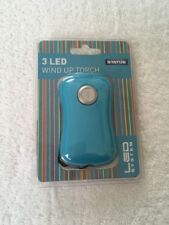 Status 3 LED Wind Up Dynamo Torch, Blue