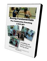 """""""BOXING INSTRUCTIONAL 3 DVD SET, Includes Combination Punching, for Boxing & MMA"""