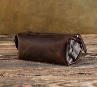 Leather Toiletry Bag Men Dopp Kit Handmade Travel Bags Сustom Pouch