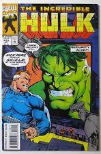 The Incredible Hulk #410 (Oct 1993, Marvel) (C5452) 1st Series Shield Nick Fury