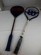 Paquete de cosecha de madera Squash Raquetas De Raquetas Wilson sombra de cabeza de la victoria