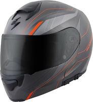 Scorpion Exo-Gt3000 Modular Sync Helmet Grey Orange