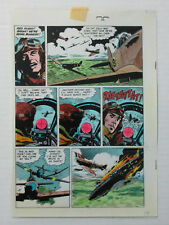 1986 World of Wally Wood original color guide art page 3: WWII Battle of Britain
