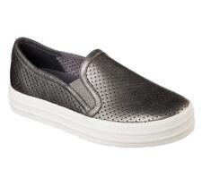 NEU SKECHERS Damen Sneakers DOUBLE UP- METALLIC BREEZE Silber