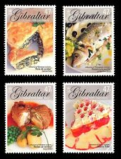 Gastronomy set of 4 stamps mnh Gibraltar 2005 Europa yummy!