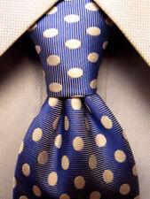 Burma Bibas Blue Polka Dot Silk Tie A5295