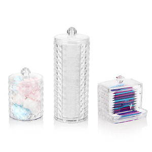 Make up Organiser Set-Cotton Pad Holder, Ear Bud Holder and Cylinder Storage Box