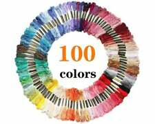 Embroidery Floss 100 Skeins of Thread w/ 12 Bobbins - Friendship Bracelets