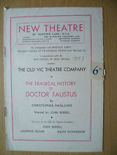 New Theatre Programme 1948- THE TRAGICAL HISTORY OF DOCTOR FAUSTUS by C Marlowe
