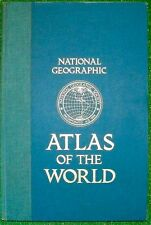 Vintage 1981 National Geographic Atlas Of The World Large 18 x 12