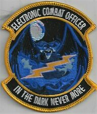 USAF ELECTRONIC COMBAT OFFICER PATCH       'IN THE WAY NEVER MORE'         COLOR