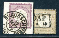 DR 1872 1,6 gestempelt TADELLOS RAUHE ZÄHNUNG (S1948