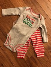 Santa I've Been Good Outfit 6 Months NWT
