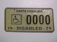 1979 '79 South Carolina SC DISABLED License Plate Auto Tag Wheelchair Handicap