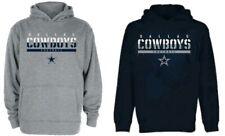 Dallas Cowboys NFL Youth Boys Navy or Gray Team Hoodie Hooded Sweatshirts: S-L