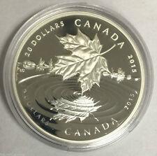 2015  1 oz Fine .999  Silver Coin - Maple Leaf Reflection - RCM - CANADA