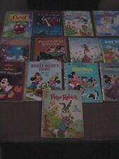 LITTLE GOLDEN BOOKS MIXED LOT MICKEY DONALD BUGS BUNNY PETER RABBIT 13 BOOKS