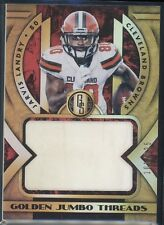 JARVIS LANDRY 2018 GOLD STANDARD JUMBO THREADS RELIC #101/125 BROWNS