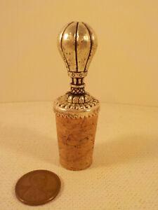 """Original-vintage Antique-? (Unmarked) Silver-? """"Wine ~ Cork BOTTLE ~ STOPPER""""!"""