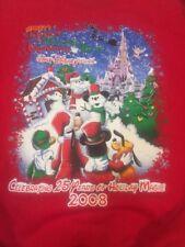 Walt Disney World Sweatshirt Sweater 2008 25th Holiday Christmas