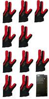 2019 Champion Full 3 finger Pool Cue Stick Glove- Left hand Predator( red black)