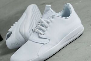 Mens NIKE AIR JORDAN 'Eclipse' White Canvas Lace-Up Casual Sneakers .