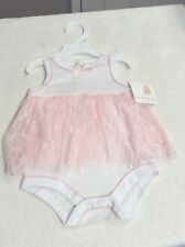 STARTING OUT Infant Girl Pink & White Polka Dot One-Piece. Size 6 Months. NEW.