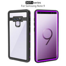 For Samsung Galaxy Note 9 S9 Plus Waterproof Transparent Hybrid Phone Case Cover