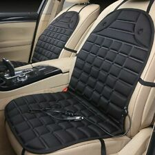 Universal Black Car Heated Seat Cushion Mat Cover 12v Heater Home Office