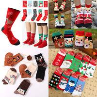 Women Girls Cartoon Cotton Soft Socks Warm Winter Deer Wool Christmas Xmas Gift