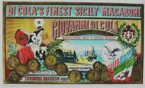 Original vintage poster SICILY PASTA ITALY EXPORT 1890