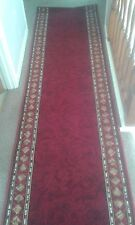 NEW - CHEOPS RED - LONG HALL AND STAIR CARPET RUNNER  RUG 273cm X 67cm