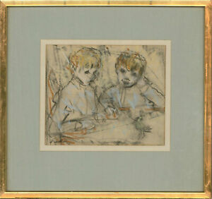 Ethel Walker (1861-1951) - Early 20th Century Pastel, Watching And Waiting