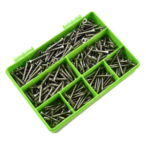 STAINLESS STEEL SPAX SCREWS KIT A2 FULLY THREADED POZI COUNTERSUNK 300 PIECE