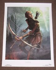 Dragon Age Followers Sera Lithograph - Inquisition, 2 - Limited New