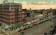 The Busiest Block in Topeka KS 1915