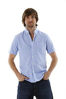 Men's Short Sleeve Shirt Tops Summer T Shirt 100% Pure Cotton Small-2XL