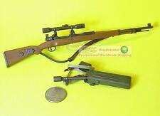 1:6 Scale Action Figure GERMAN MAUSER KARABINER 98K RIFLE + SCOPE GUN_98K+S